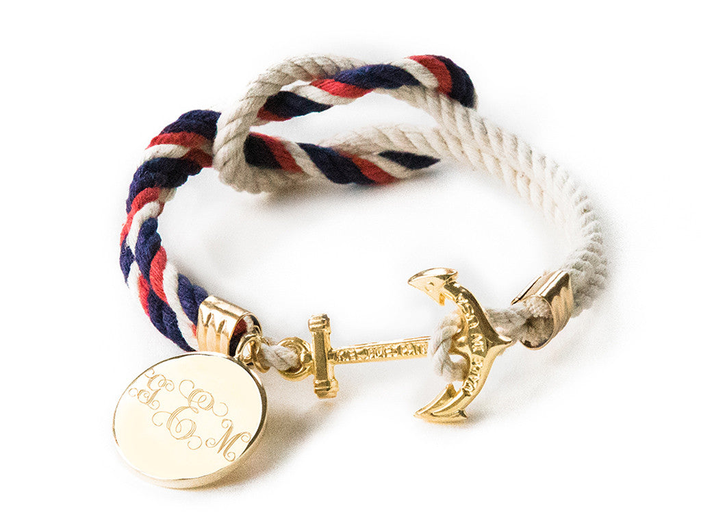 American Classic Mom-o-gram - Kiel James Patrick Anchor Bracelet Made in the USA