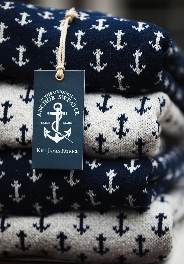 The Original Cotton Anchor Sweater - Navy
