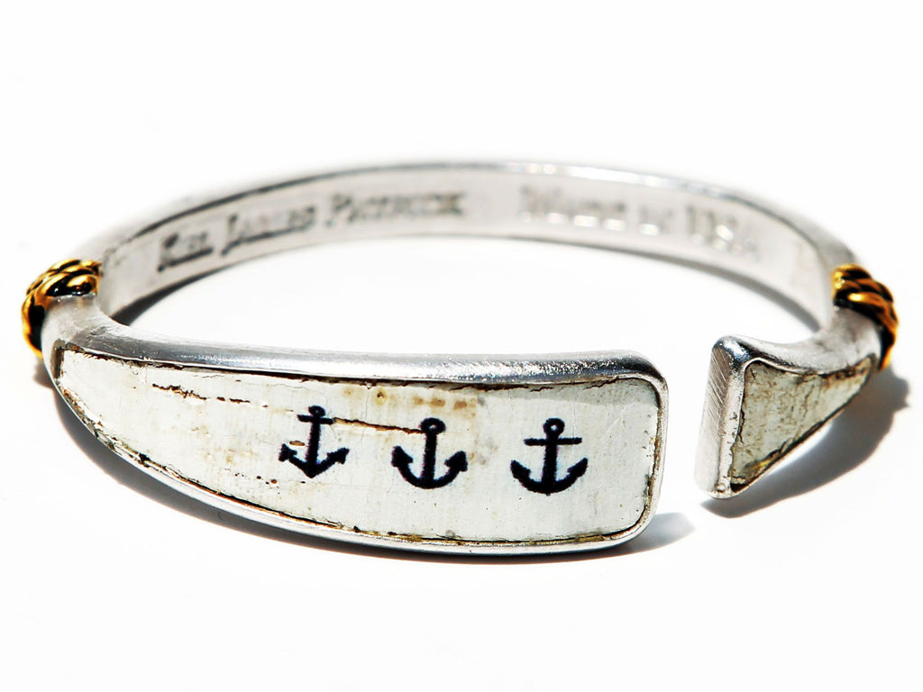 Anchored American - Kiel James Patrick Anchor Bracelet Made in the USA