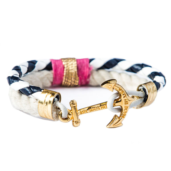 Audrey Scallop - Kiel James Patrick Anchor Bracelet Made in the USA
