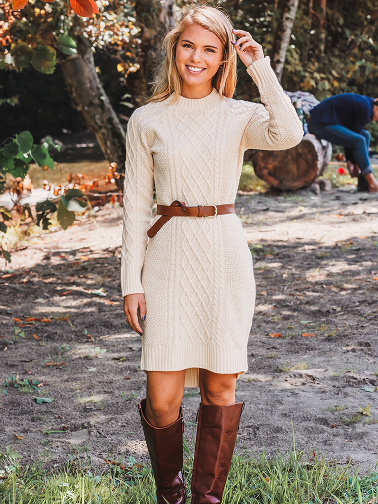 Autumn Knit Sweater Dress - new images