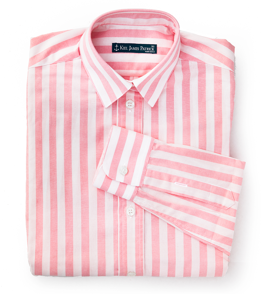 Bermuda Cabana Shirt - Kiel James Patrick Anchor Bracelet Made in the USA