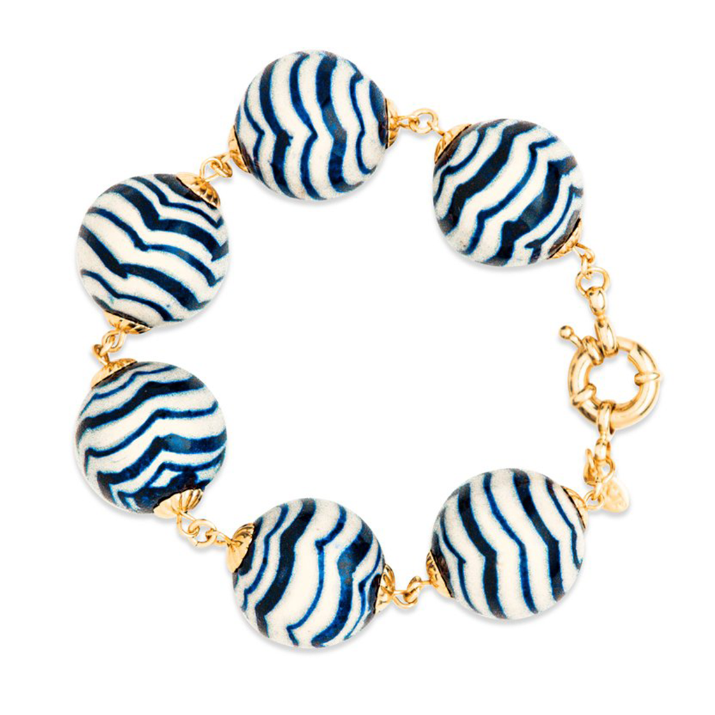 The Big Navy Wavy Bracelet
