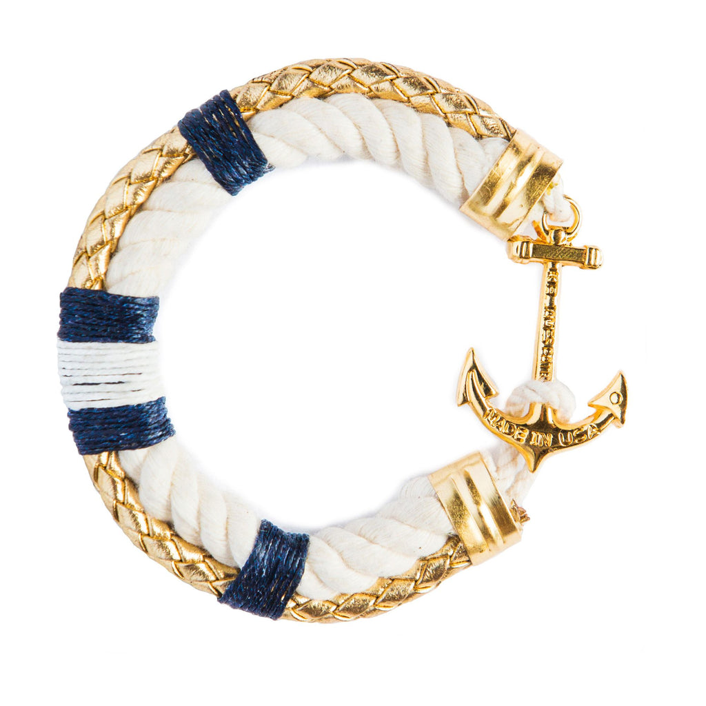 Cape Codder - Kiel James Patrick Anchor Bracelet Made in the USA