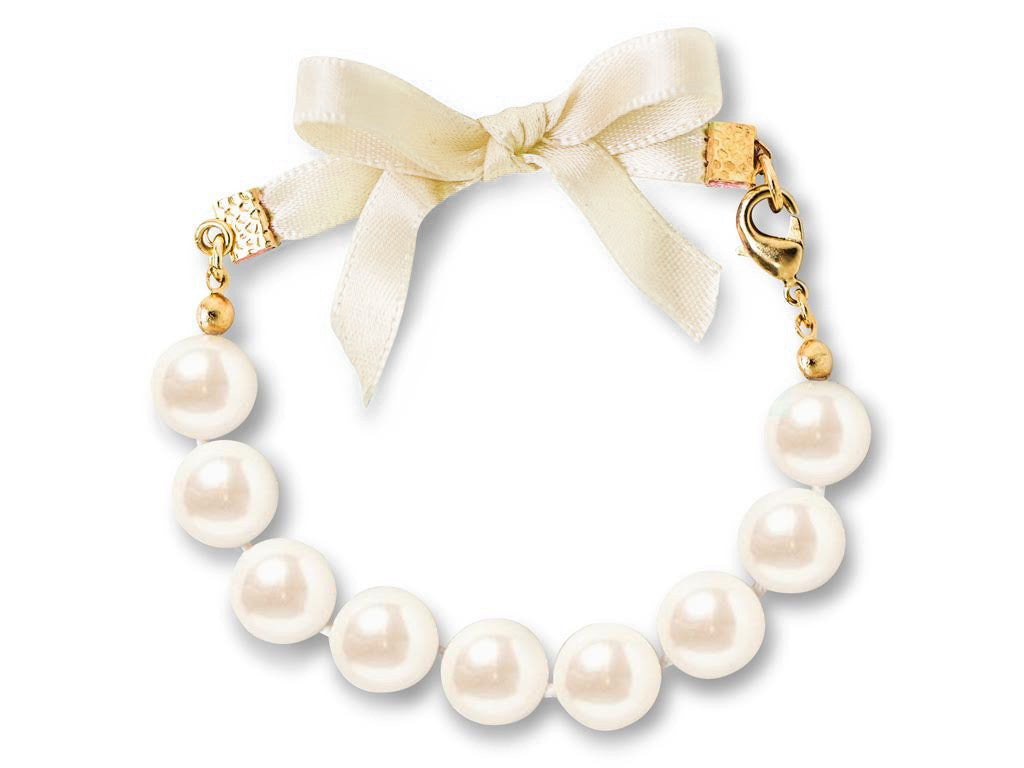 Champagne and Pearls - Kiel James Patrick Anchor Bracelet Made in the USA