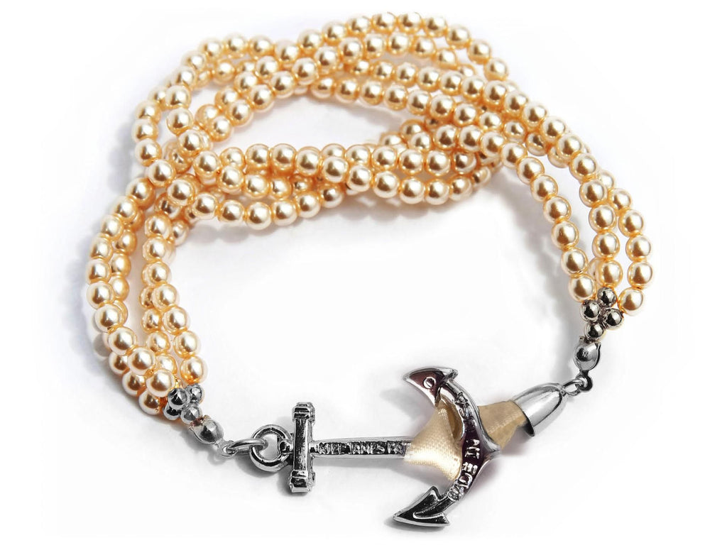 Champagne on Ice - Kiel James Patrick Anchor Bracelet Made in the USA