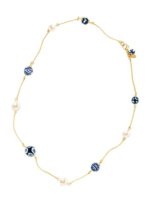 Chinoiserie Ocean Pearls - Kiel James Patrick Anchor Bracelet Made in the USA