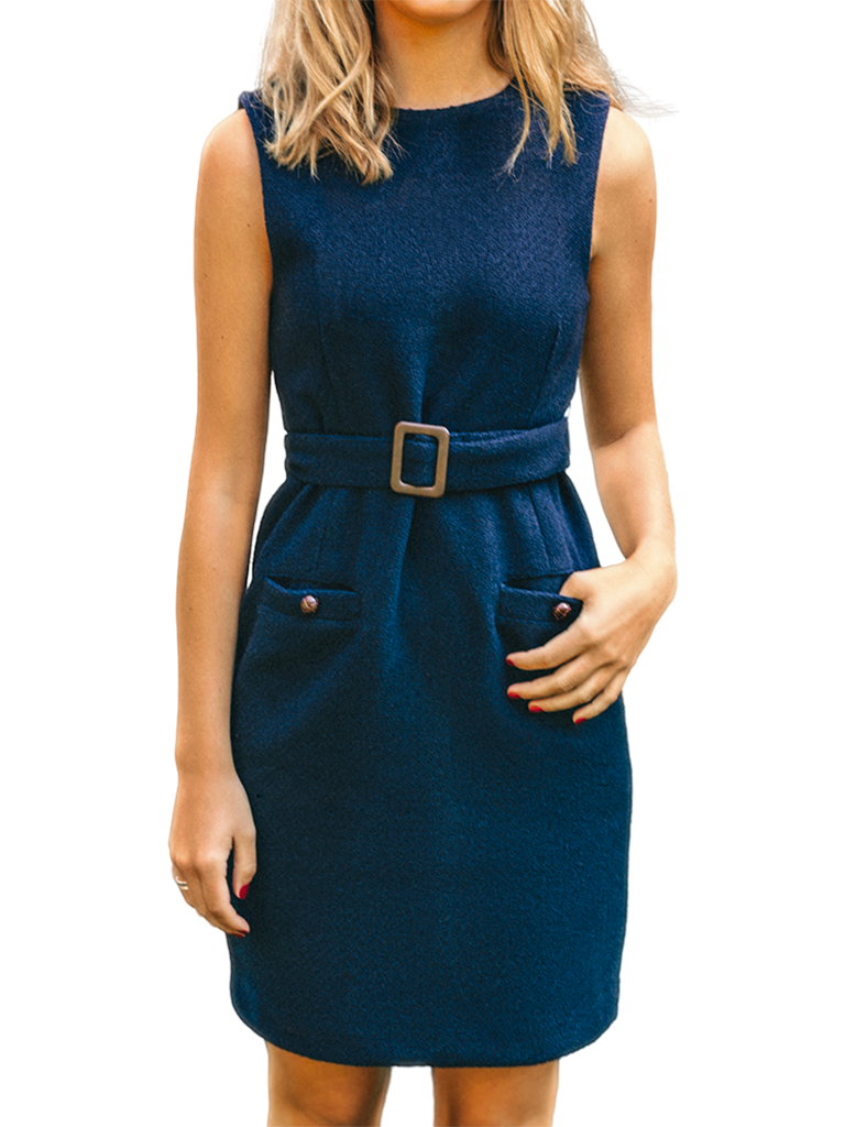 Clara Belted Shift Dress