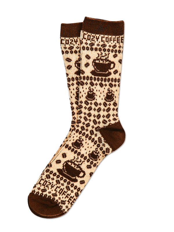 Cozy Cabin Coffee Sock