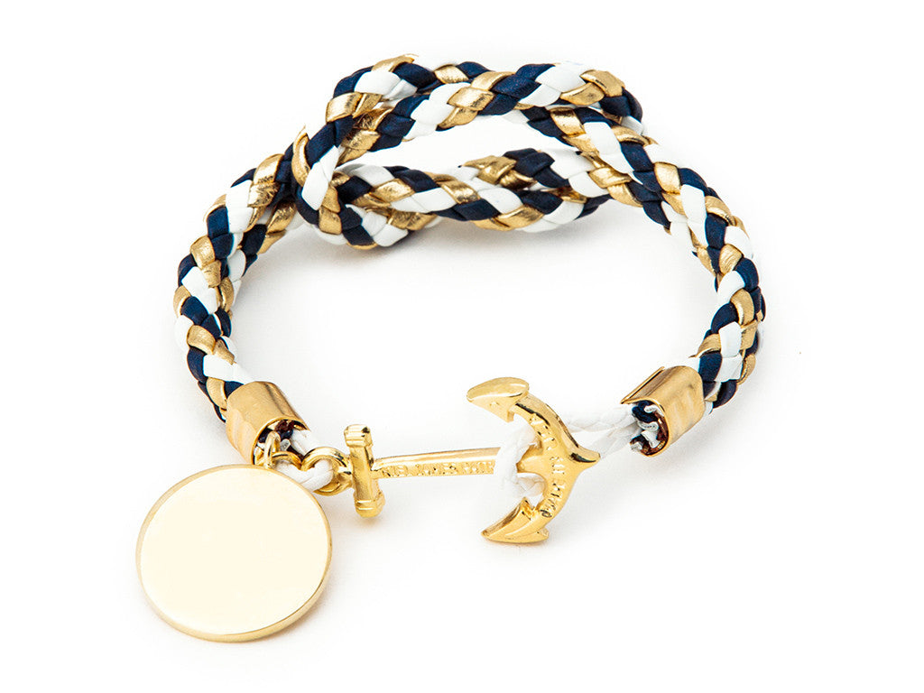 Dawn Treader Charm - Kiel James Patrick Anchor Bracelet Made in the USA