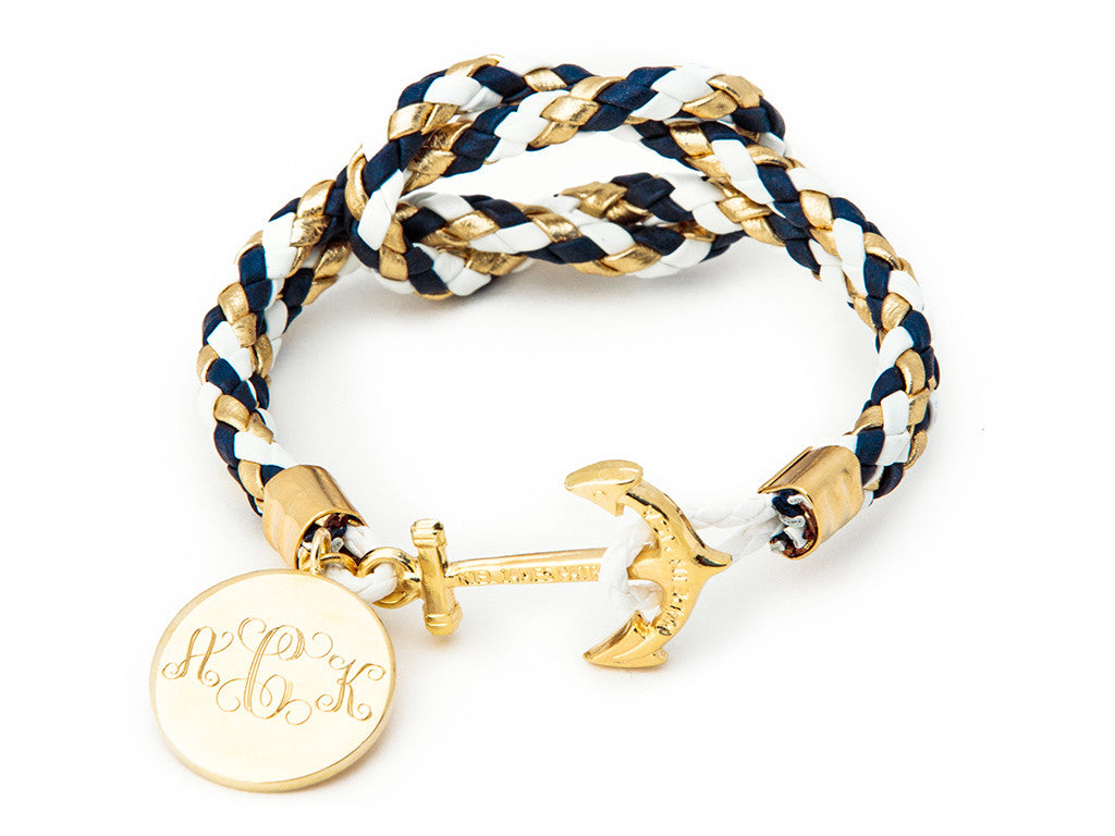 Dawn Treader Mom-o-gram - Kiel James Patrick Anchor Bracelet Made in the USA
