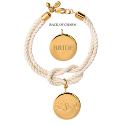 East Hampton Knot Monogram Wedding Bracelet