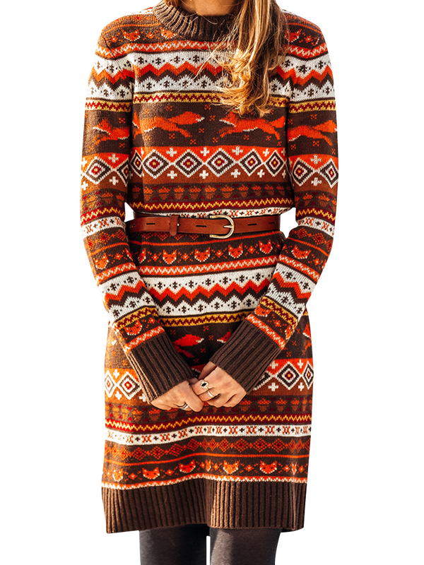 The Fantastic Fox Sweater Dress