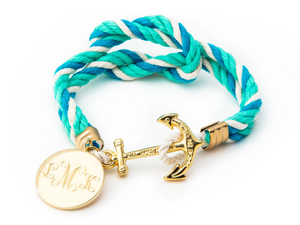 Felicity's Wave Pool Mom-o-gram - Kiel James Patrick Anchor Bracelet Made in the USA