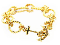 Golden Tide - DISCONTINUED - Kiel James Patrick Anchor Bracelet Made in the USA