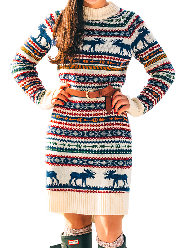 The Great Moose Sweater Dress