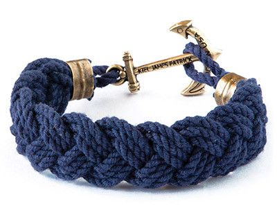 Benjamin's Compass Rose - Kiel James Patrick Anchor Bracelet Made in the USA
