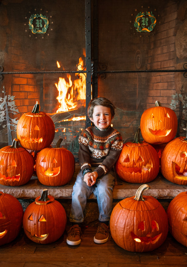 Cozy Pumpkin Sweater - Kids