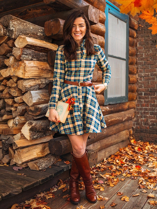 New England House Flannel Dress