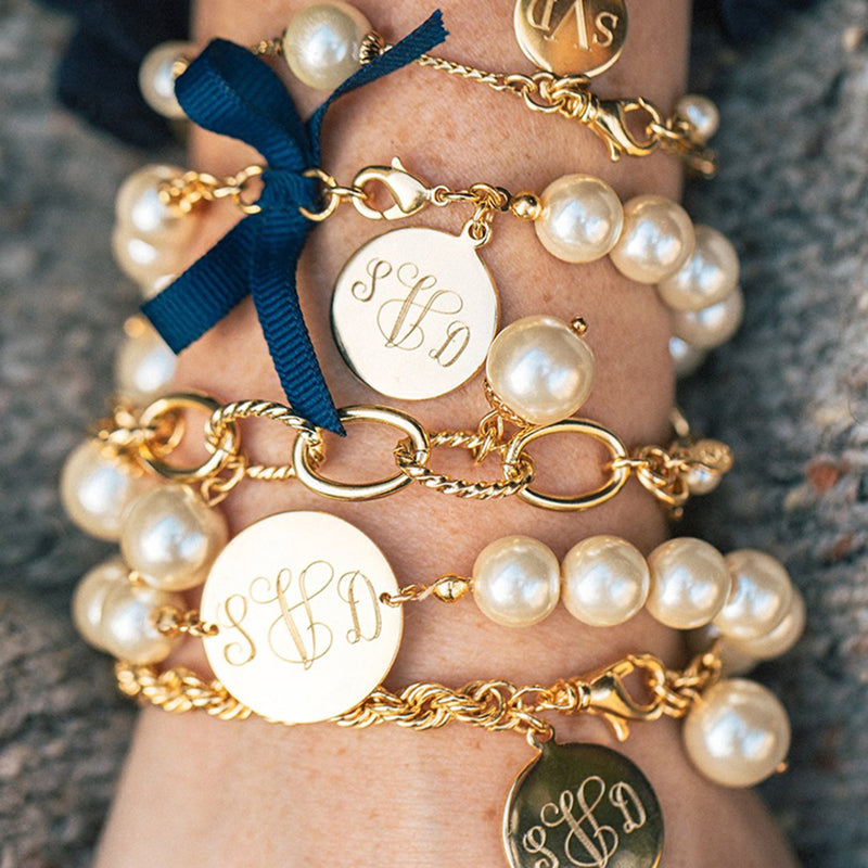 Calypso Sea Monogram Bracelet - Kiel James Patrick Anchor Bracelet Made in the USA
