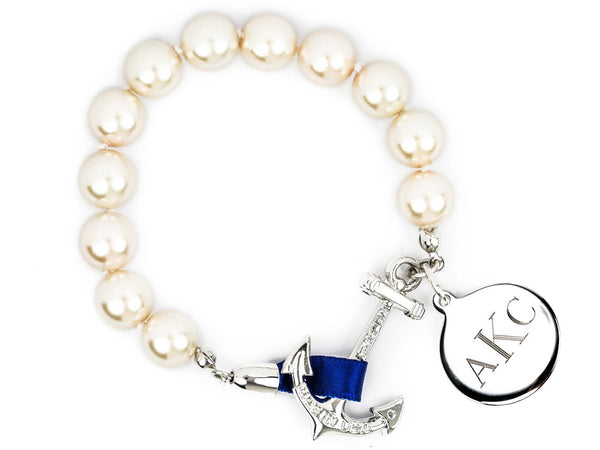 Charlotte Mom-o-gram - Kiel James Patrick Anchor Bracelet Made in the USA