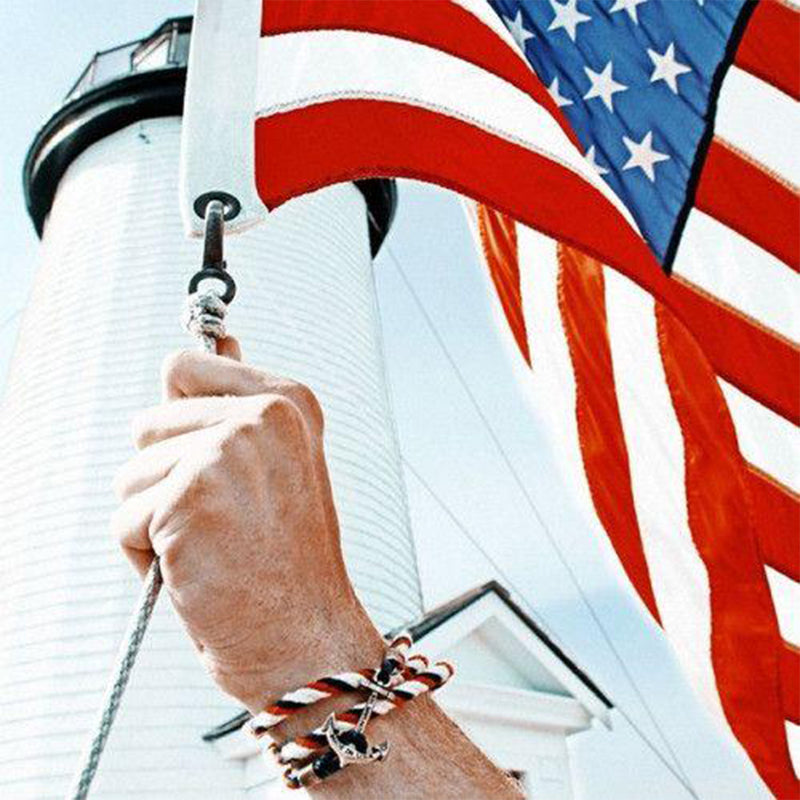 Jack Fitz - Kiel James Patrick Anchor Bracelet Made in the USA