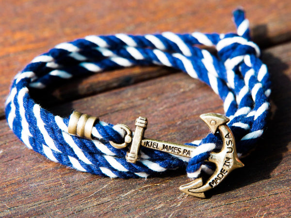 Kennedy Sail - Kiel James Patrick Anchor Bracelet Made in the USA