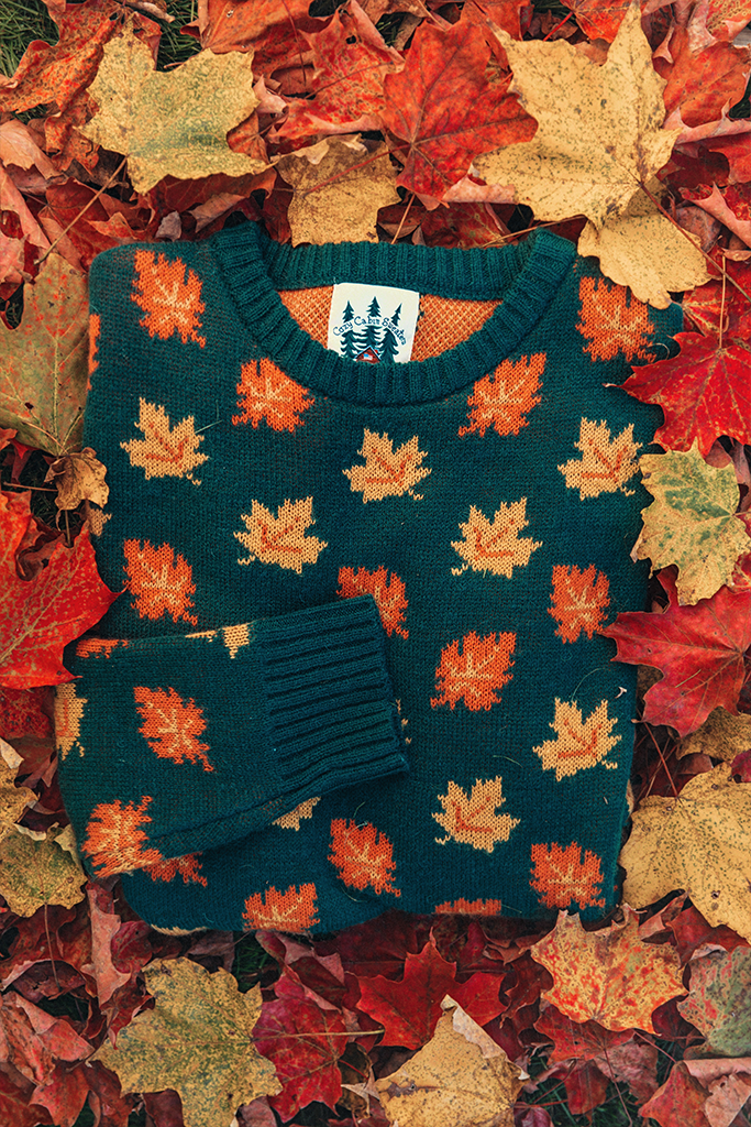 The Big Cozy Fall Leaf Sweater