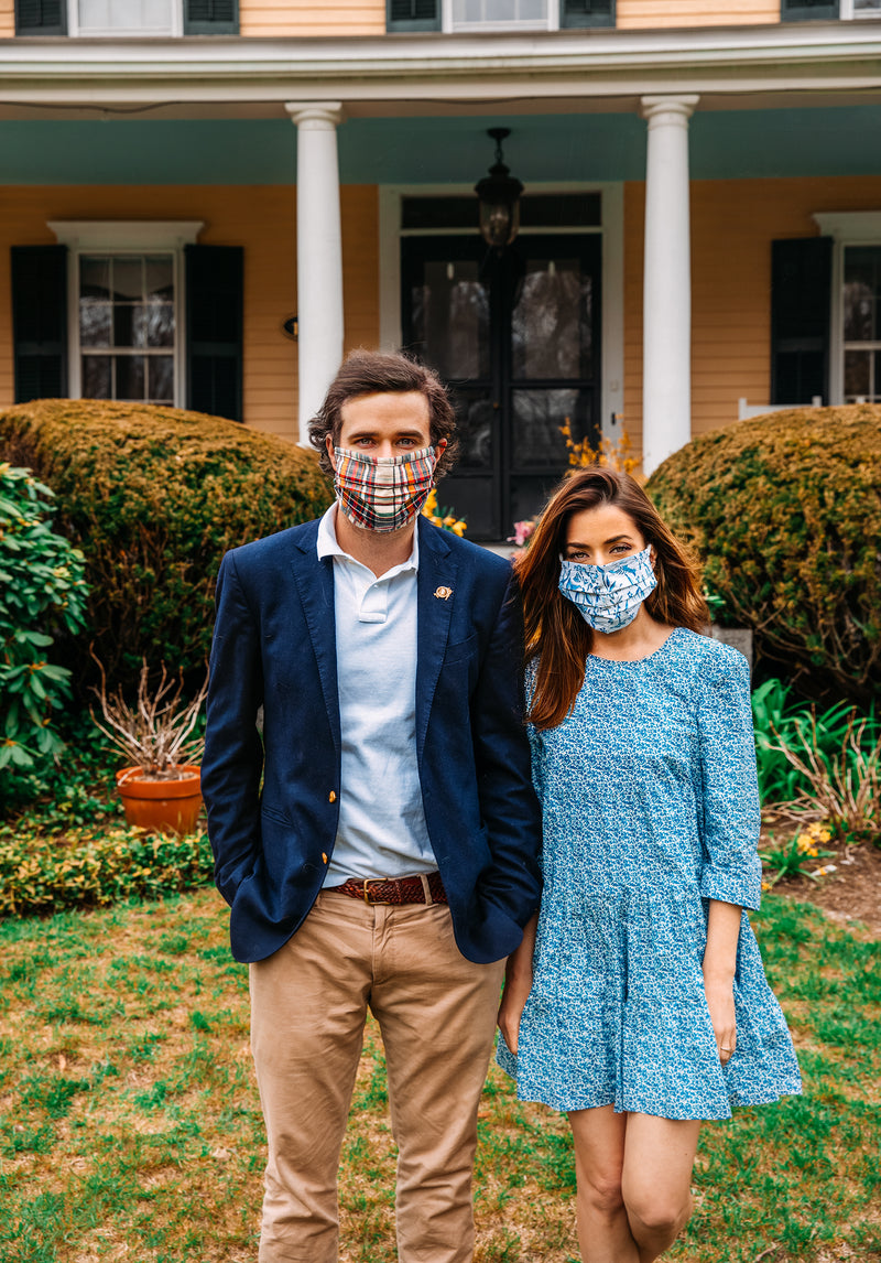 Blue Oxford Mask