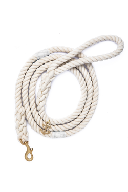The Knotty Dog Leash - White