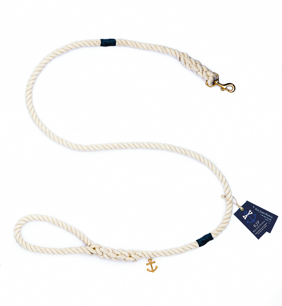 The Knotty Dog Leash - Navy