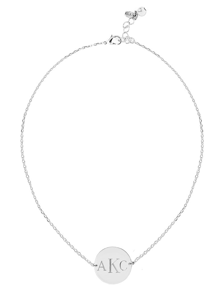Monogram Chain Necklace - Silver