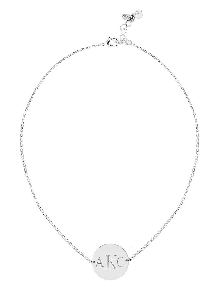 Monogram Chain Necklace (Sterling Silver)