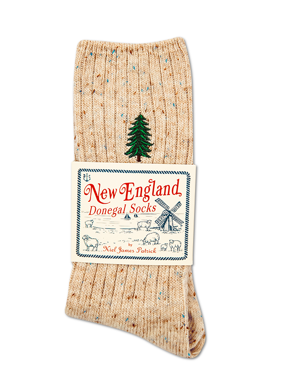 Winter Pine Donegal Sock