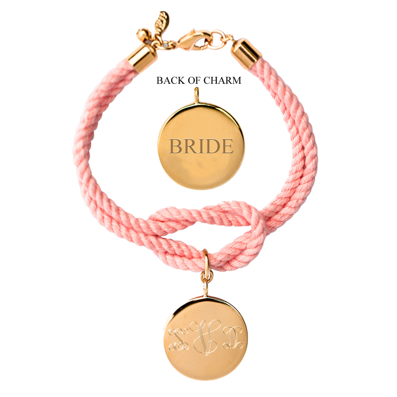 Palm Beach Knot Monogram Wedding Bracelet