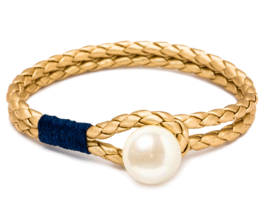 Pearl Knot Navy & Gold