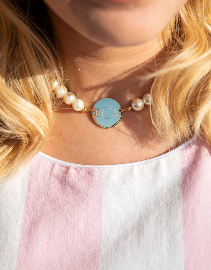 Pearl Monogram Necklace
