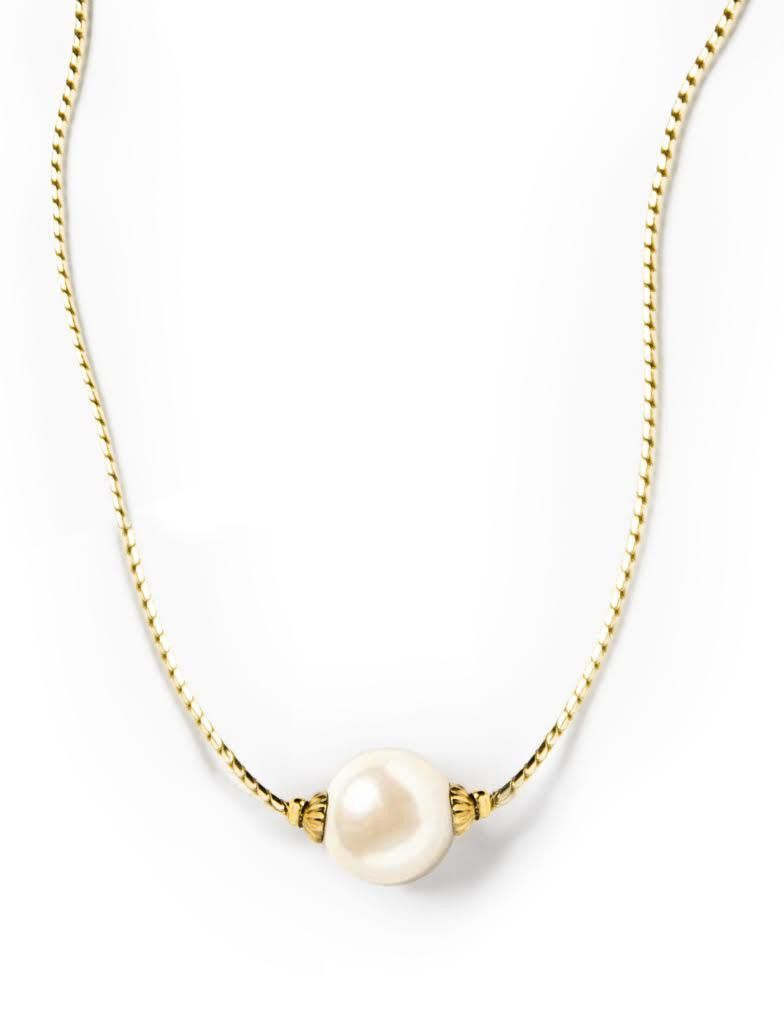 Pearlsonalized Gold Necklace