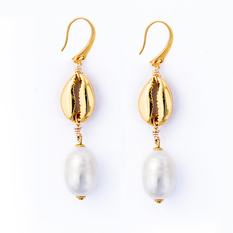 Puka Pearl Earrings