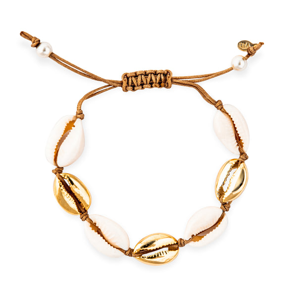 Puka and Gold Bracelet