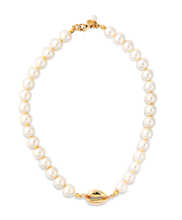 Puka Pearl Necklace