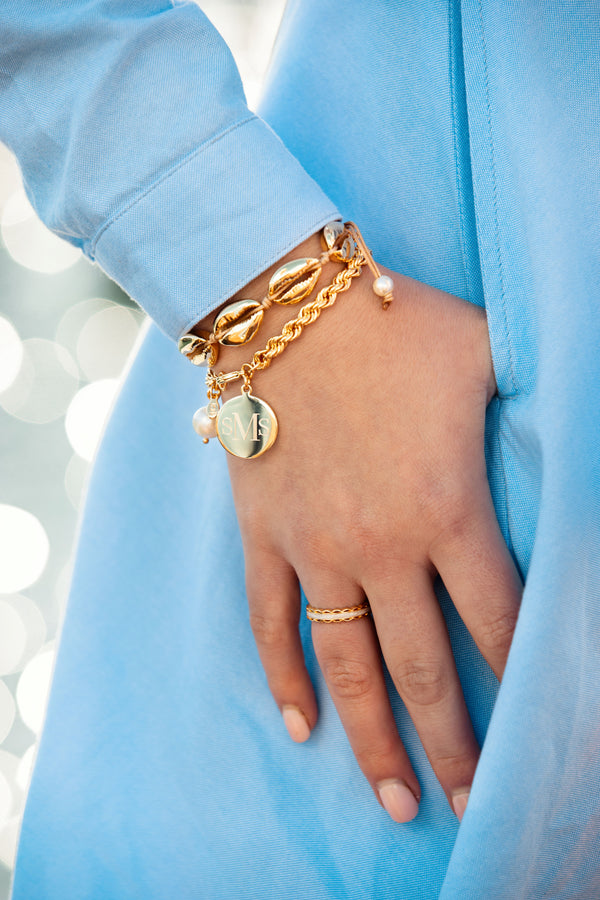 Scalloped Ring - Pearl