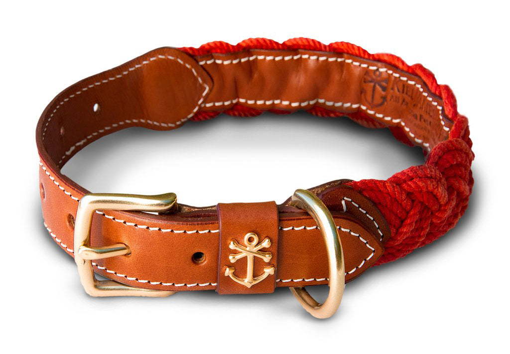 The Knotty Dog Collar- Red
