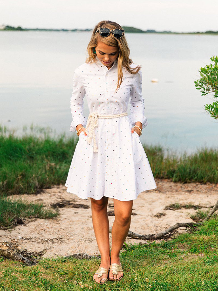 The Seafari Dress - White