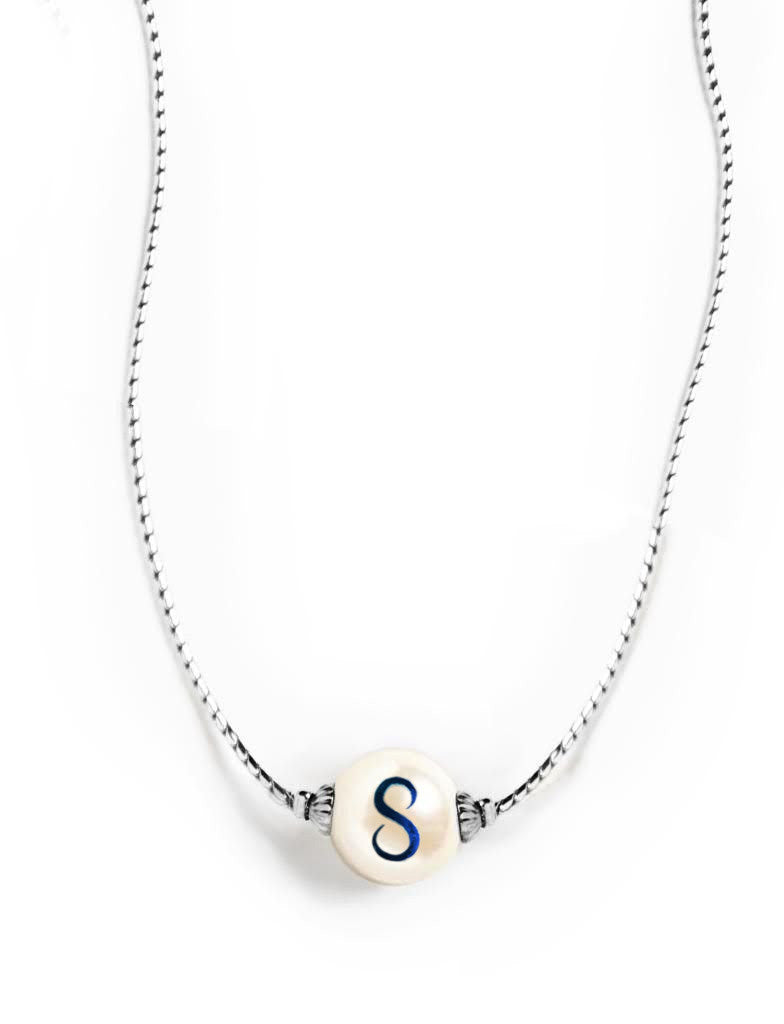 Pearlsonalized Silver Necklace