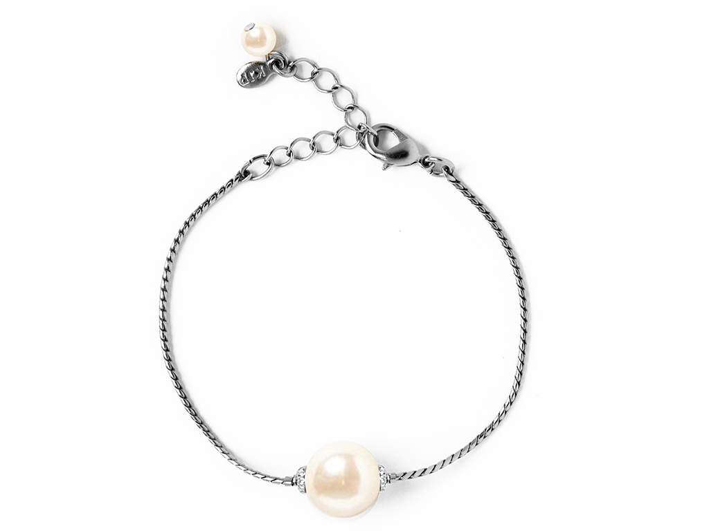 Silver Simply Pearlfect Bracelet