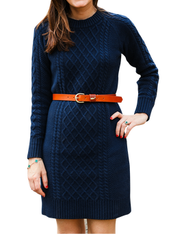 The Navy Knit Sweater Dress