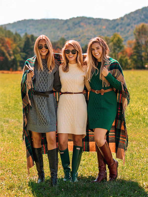 Evergreen Knit Sweater Dress
