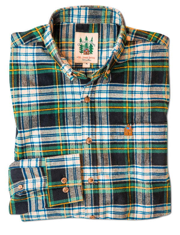 Green Mountain View Flannel Shirt