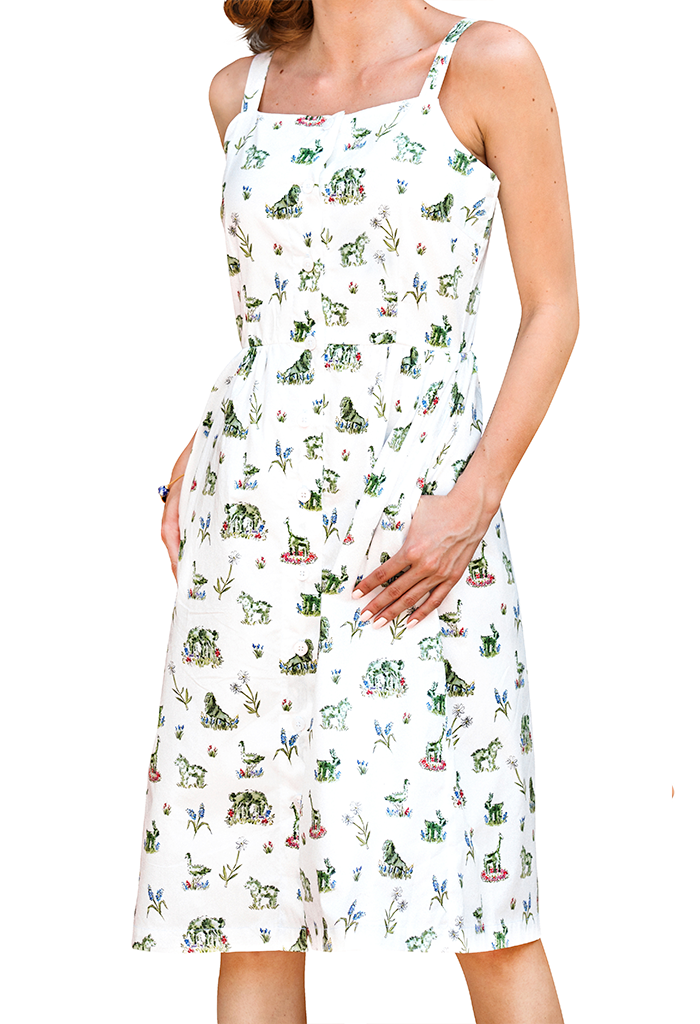 Newport Topiary Gardens Midi Dress